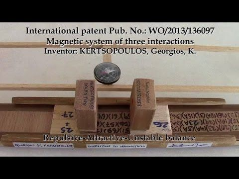 WO/2013/136097 Magnetic system of three interactions Kertsopoulos VIDEO ...