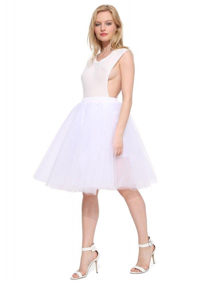Black Swan Skirt in White   Necessary Clothing
