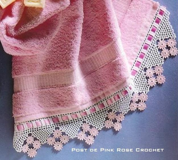 Barra de Crochê - Candy Pink Edging  crochet edgings @Af's 19/3/13