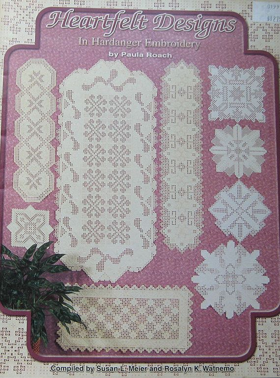 Heartfelt Designs Hardanger Embroidery Pattern by TheHowlingHag, $8.95