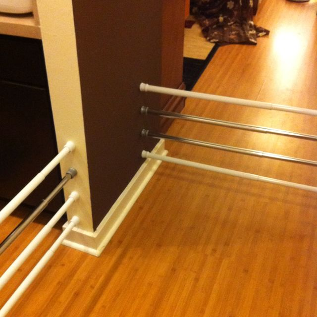 Tension rods for low cost low rise pet gates!