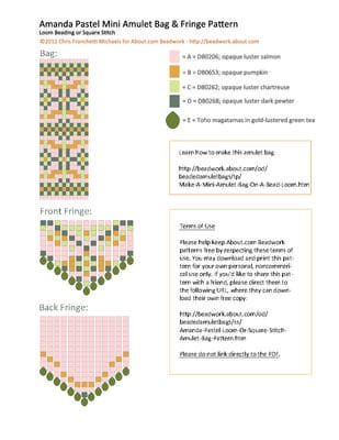 c2dc3ea35baedadead4f7fecec7f074f seed bead patterns peyote patterns 25 best beaded amulet bags images on pinterest amulets, beaded wiring diagram atos prime scribd at love-stories.co