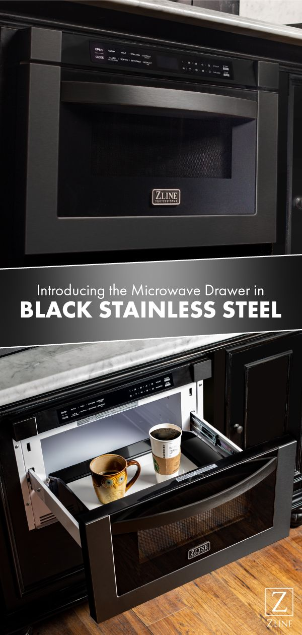All New Black Stainless Microwave Drawer Microwave Drawer Condo Kitchen Remodel Kitchen Remodel Design