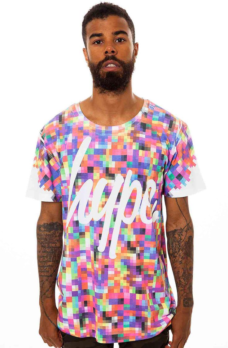 Hype Clothing Tee Pixel In Multi Design