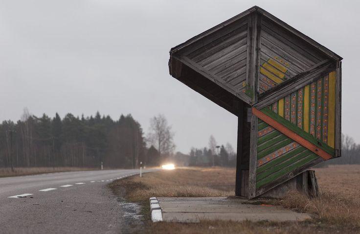 quibbll.com - Кристофер Хервиг (Christopher Herwig): Советская автобусная остановка - Эстония, г. Коотси