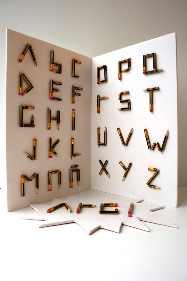 Crack! | A broken pencil typography on the Behance Network