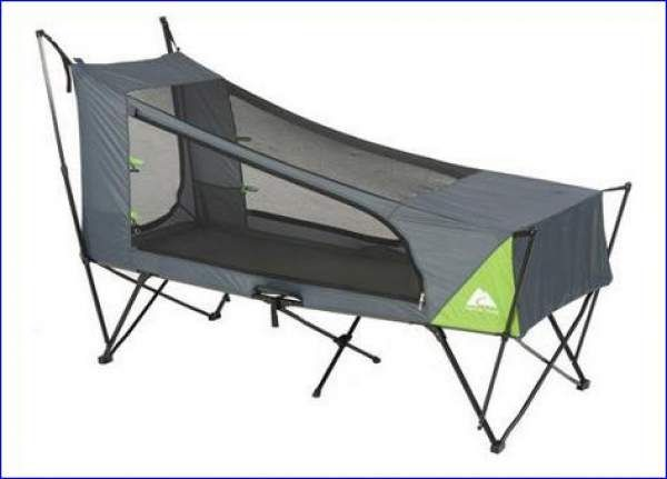 Ozark Trail Instant tent cot without the rain fly.