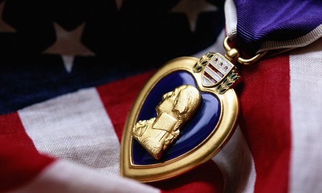 Man receives older brother's long-lost Purple Heart medal | Daily Mail Online