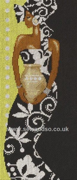 Buy African Lady with Vase Cross Stitch Kit online at sewandso.co.uk