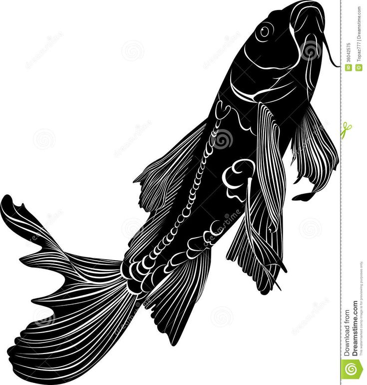 Top 25 ideas about textile koi lily on pinterest for Black and white koi fish