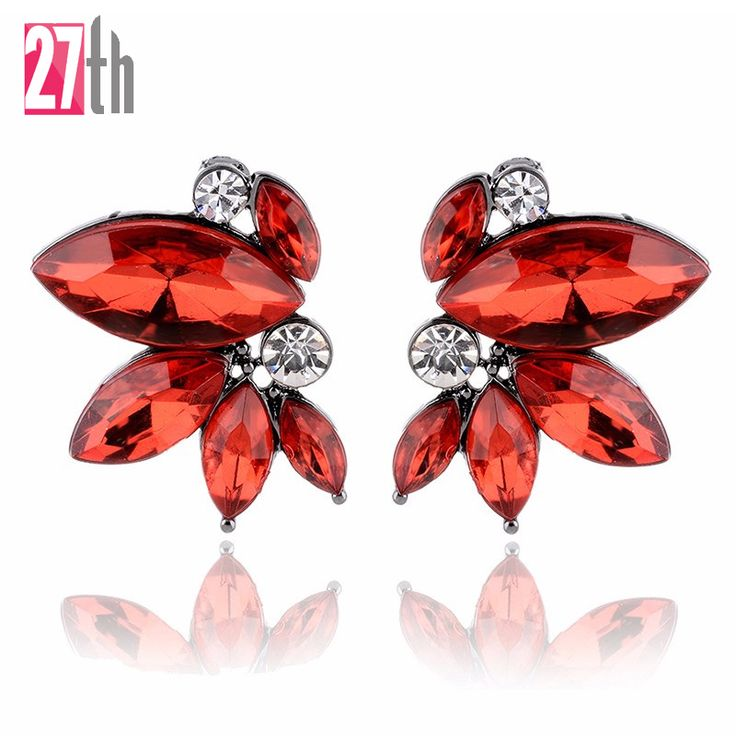 Unique Symmetrical Acrylic Opal Stone Stud Earrings for Woman Personality Statement Fashion Jewelry Christmas Gift for Girls