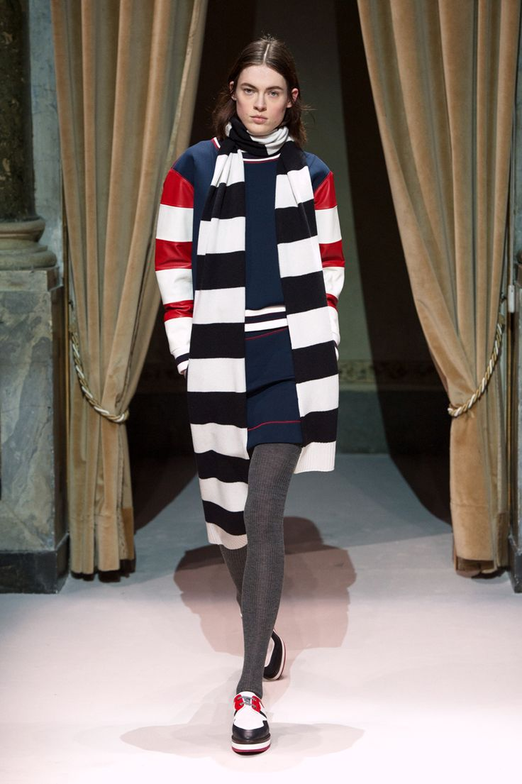 Look 2 from Fay Women's Fall - Winter 2014/15 collection seen on the catwalk.
