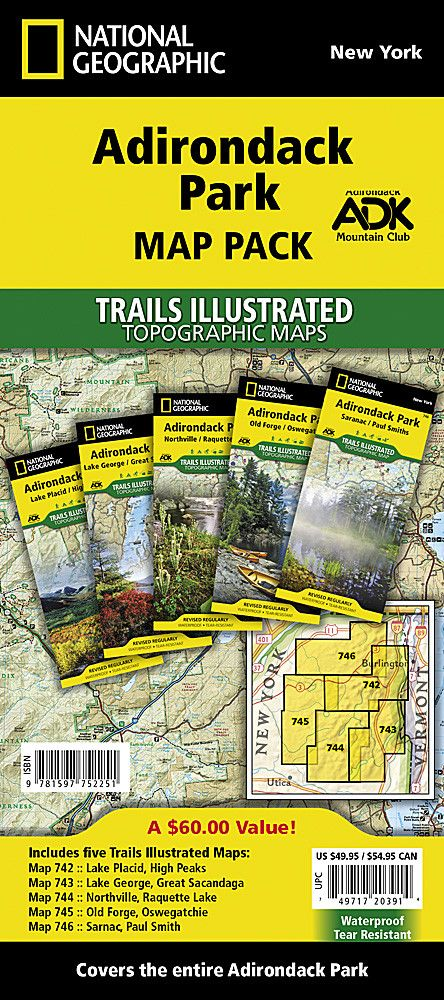 Adirondack Park, Map Pack Bundle by National Geographic Maps