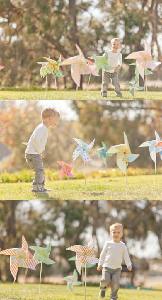 Having something pretty and photogenic to distract younger kids is a great idea.