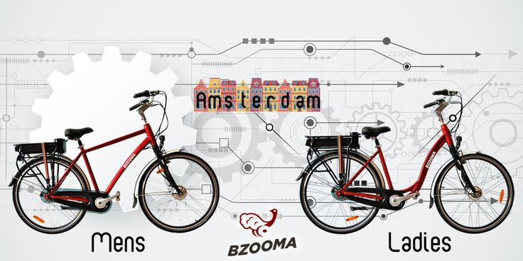 Bzooma 'Amsterdam'  Why toil up and down hills or exhaust yourself in a spread-out city, when 'Amsterdam's' Electric Assist can carry you along as though it was flat.