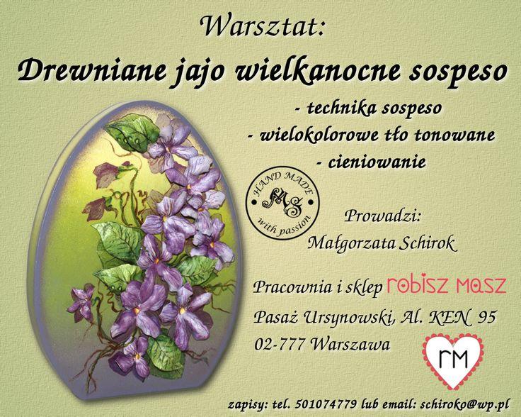 Warsztat: Drewniane jajo wielkanocne sospeso.