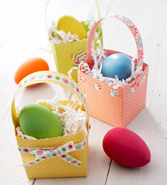 PAPER EASTER BASKETSIdeas For, Cestas Huevos, Huevos De Pascua, Craft, Paper Basket, Cestas Para, Easter Baskets, Huevos Pascua, Crafts