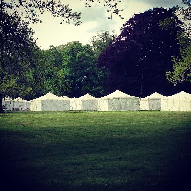 Green campus.  #conferencecampus #tents #outdoor #park #gyldenholm