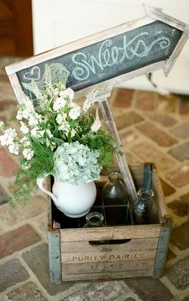 Delightful rustic farmyard wedding decor #flowers #rustic #decor  Photo by: Mary Rosenbaum Photographs on  Inspired by This