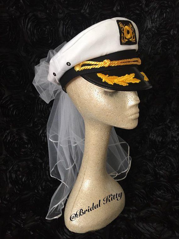Nautical Bride Bachelorette Party Captain Hat Last by BridalKitty1