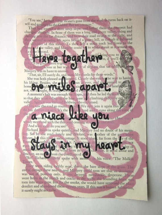 Especially for my Niecy Pooh!  Niece quote saying poem print on a book page by ESPARTOstudio, $8.00