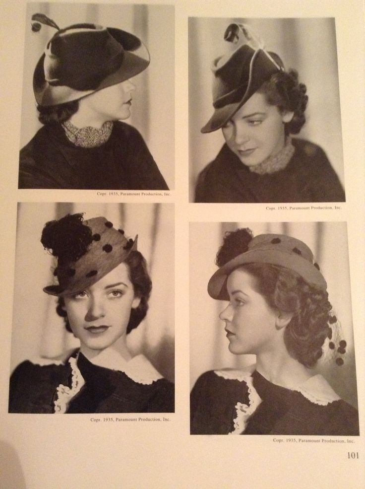 Hats and hairstyles of the 1930s
