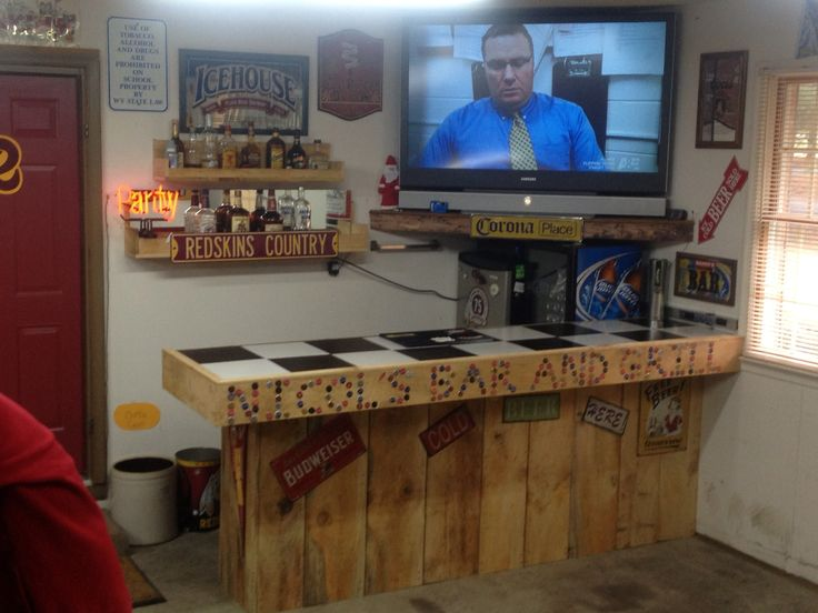 Lil Man Cave Ideas : Best images about garage bar ideas on pinterest