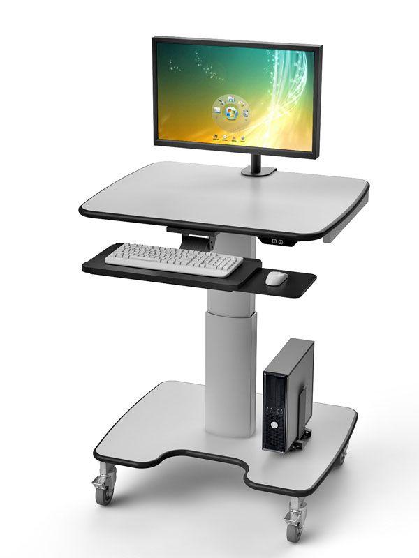 Height Adjustable telescopic computer cart