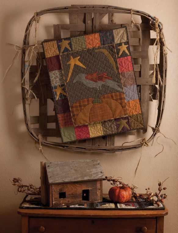 Primitive Quilts and Projects Magazine - Lisa Bongean.  Love this one!  Fabric and wool.