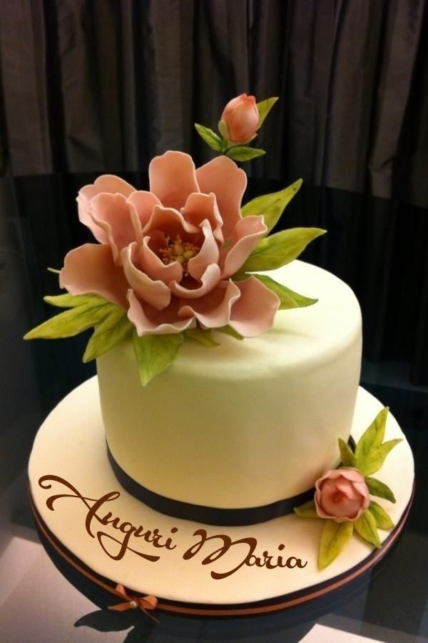 Buon Compleanno Maria Torte Di Compleanno Torta Decorata Con Fiori