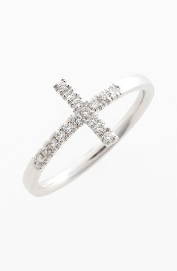 Bony Levy Diamond Cross Ring (Nordstrom Exclusive) available at Nordstrom