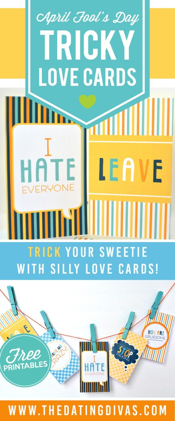 April Fools Day Tricky Love Cards