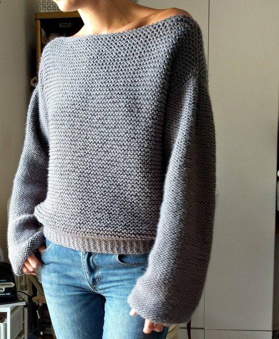 528bec0e70828b No Purls Sweater Pattern ONLY V Back Knit Sweater Pattern