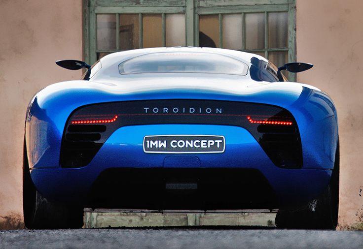 Toroidion 1MW Concept  AWD 2016 Toroidion   1MW Concept price 3 000 000 $  speed  400 kph / 248 mph  0-100 kph 2.7 seconds  Power 1341 bhp / 986 kW  bhp / weight 938  bhp per tonne  Weight 1430  kg /  3153  lbs