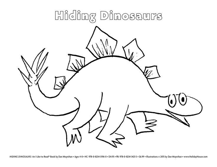 Hiding Dinosaurs By Dan Moynihan Stegosaurus Coloring Sheet