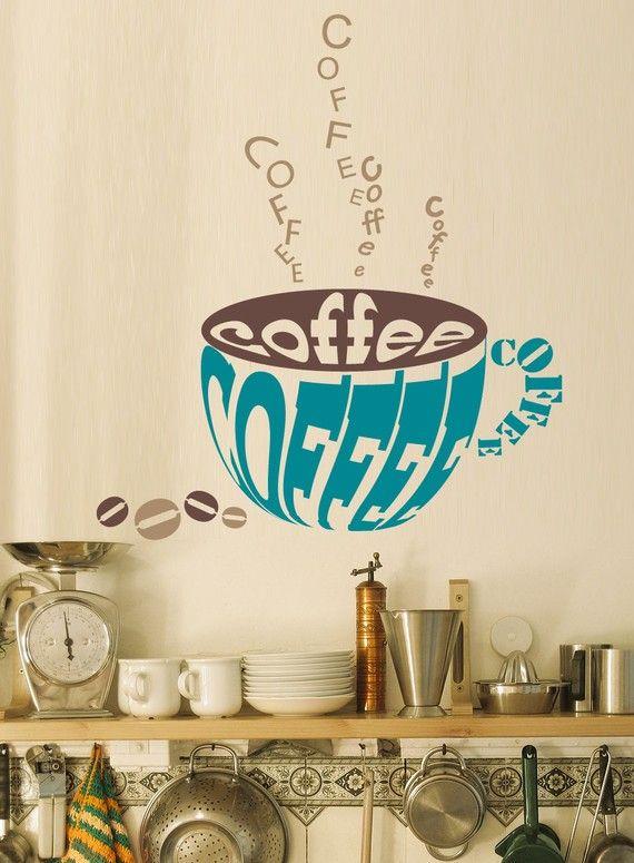 Coffee vinyl wall decal