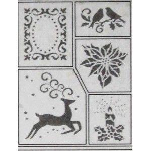Šablona - Vánoční motivy  (D9)Drawings For, Quilling Snowflakes, Autres Chose, 15X20 Cm, Vánoční Motiviational, Barvu Natupujt, To Paint, Chose En, Estencil Navidad