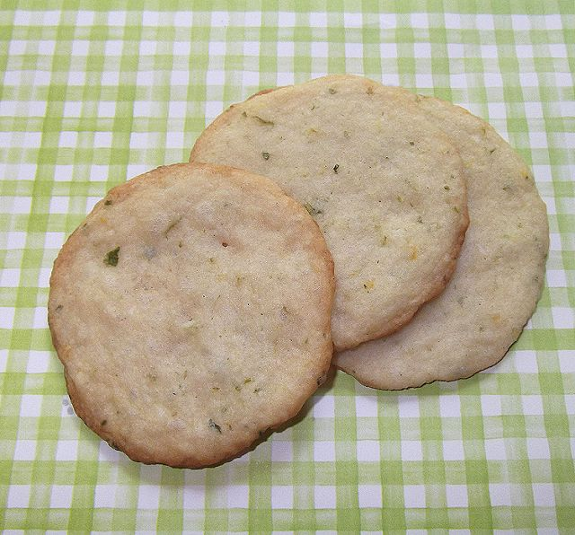 Lemon-Lime Basil Shortbread Cookies from Bon Appetit Magazine, July 2011 - Taking On Magazines