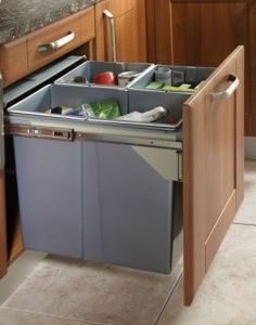 Recycle Bin Pull Out Kitchen Waste Bin 600MM