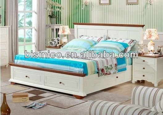 European Contemporary Country Furniture, Bedroom Furniture, Mediterranean Style, Sleeping Queen Size Sleigh Bed W/Storage Drawer, View english country furniture style, Bisini Product Details from Bisini Furniture And Decoration Co., Ltd. on Alibaba.com