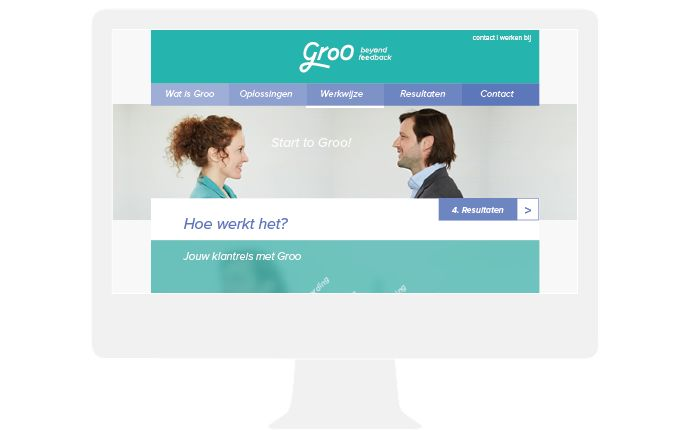 groo website design by daily milk