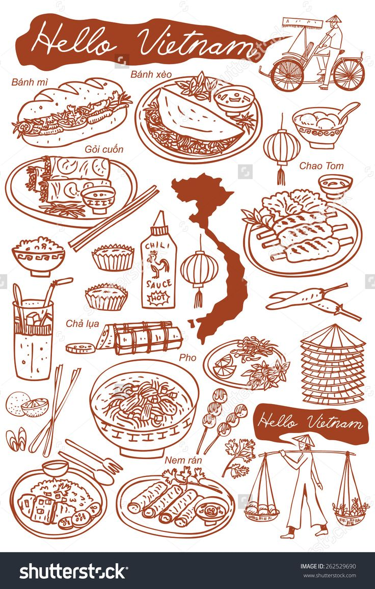 8 best food cooking book images on pinterest vietnamese cuisine set of vietnamese food doodles hand drawn outline vector buy this stock vector on shutterstock find other images forumfinder Choice Image
