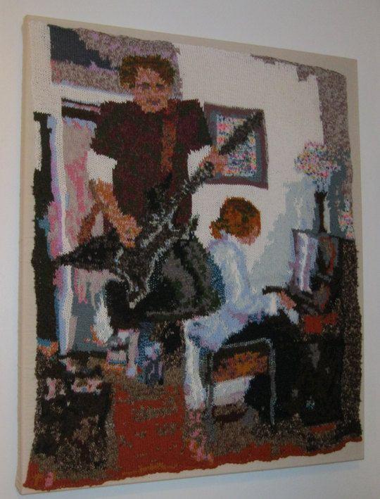 Guitare et Piano joueurs - portrait de tricot originaux, guitariste et pianiste, musique live, au pays de Galles