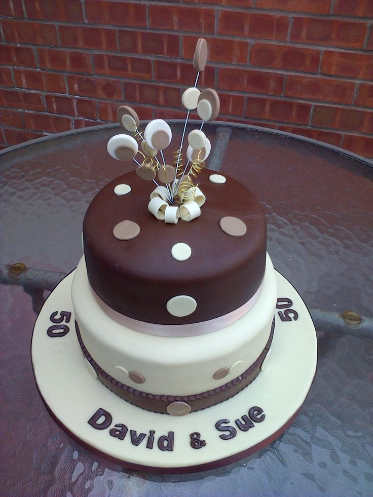 50th Birthday Cake For Two People Cakes Pinterest