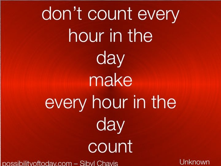 don't count every hour in the day make every hour in the day count