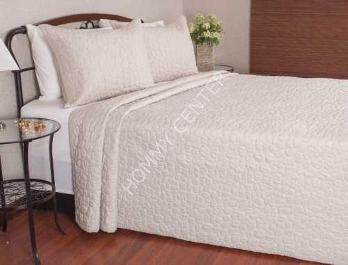 Begonville Pebbles Bej Yatak Örtüsü Çift Kişilik | Begonville | Yatak Setleri