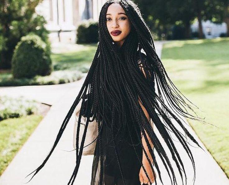 Hair Braids Styles Near Me: Best 25+ Long Box Braids Ideas On Pinterest