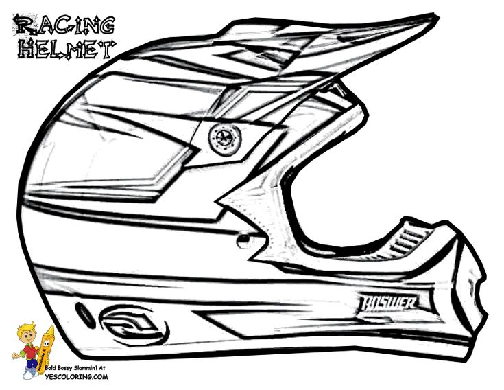 dirt bike helmet coloring page