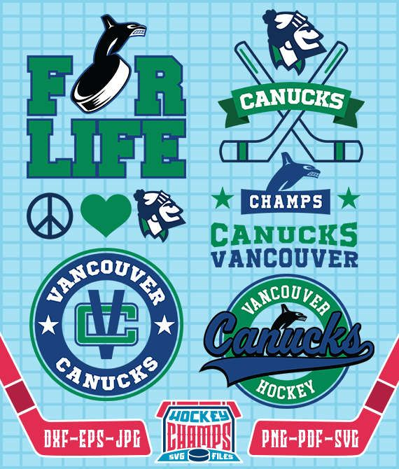 Vancouver Canucks Monogram SVG, Vancouver Canucks Logo, File for Cricut or Silhouette, Vancouver Canucks cliparts, Hockey Cliparts, CHL#14