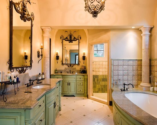 Blue Tuscan Style Bathrooms On Houzz